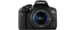 Canon EOS 750d noir