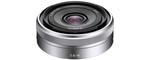 Sony E 16 mm 2.8 49 mm Objectif (adapté à sony E-Mount) gris